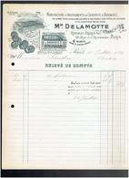 FACTURE 1899 INSTRUMENT CHIRURGIE DELAMOTTE FABRIQUE DE BONSECOURS SEINE MARITIME VENTE 68 RUE J.J. ROUSSEAU PARIS - France