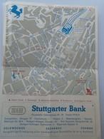 D162556  Hotel FRANK  -Stuttgart  - -karte Map -  Zimmer Ausweis - Old Paper
