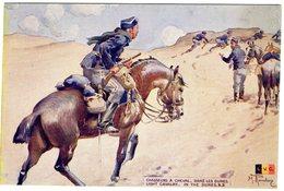 Chasseurs A Cheval Dans Les Dunes  -  CPA - Weltkrieg 1914-18