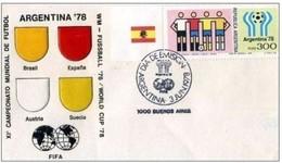 ARGENTINA - 3 6 1978 FDC WM -FUSSBALL '78 - Coppa Del Mondo