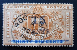 1899 Maurice - Mauritius Yt 97 ;Diamond Jubilee Issue .Diamond Jubilee Issue . Belle Oblitération - Maurice (...-1967)