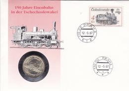 Numisbrief Tschechoslowakei, Eisenbahn,Tenderlokomotive - Ungarn