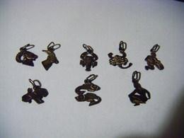 Pendentif Signes Du Zodiaque Argent Massif : Belier X 2 - Scorpion X 2 - Verseau - Lion -Poissons -Vierge . - Hangers