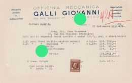 TORINO GALLI GIOVANNI 1938  OFFICINA MECCANICA Cycle Vélos - Italie