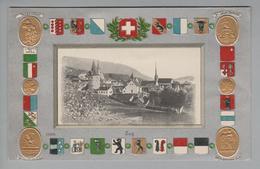 AK CH ZG Zug Foto Auf Präge-Wappenkarte Ungebraucht H.Guggenheim #7425/12438 - ZG Zoug