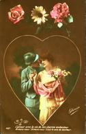CPA - FRANCE - Militaria > Patriotiques -  Fantaisie - Un Soldat Dans Un Coeur - Daté 1918 - TBE - Patriottisch