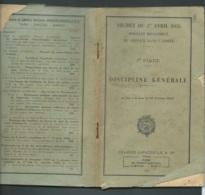 FASCICULE De 117 Pages , Service Dans L'armée Discipline Générale à Jour Date Du 20/10/1949 -  LX1402 - Documents