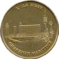 17 ÎLE D'AIX PHARE CHARENTE MARITIME MÉDAILLE MONNAIE DE PARIS 1998 JETONS TOURISTIQUE MEDALS TOKENS COINS - Non-datés