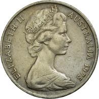 Monnaie, Australie, Elizabeth II, 20 Cents, 1975, TB+, Copper-nickel, KM:66 - Monnaie Décimale (1966-...)