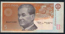 ESTONIA  P76   5   KROONI    1994   UNC. - Estland