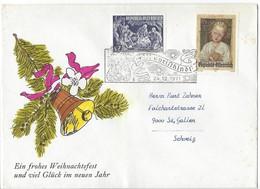 21205 - Christkindl 1971 Lettre Pour St.Gallen Branche Et Cloche 24.12.1971 - Noël