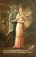 CPA - FRANCE - Militaria > Patriotiques - Fantaisie - Un Soldat Dis : Voudrais-tu M'aimer - Daté 1916 - TBE - Patriottisch