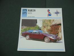 CARTOLINA CARD SCHEDA TECNICA  AUTO   MARCOS MANTIS - Autres Collections