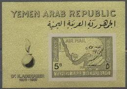 025b YAR (nord Yemen) Bloc N°68 OR Gold Stamps Konrad Adenauer COTE 35 Euros - Yémen