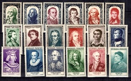 France Grands Hommes 1950, 1951 Et 1955 Neufs ** MNH. TB. A Saisir! - Unused Stamps