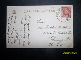 Espana: 1908 PPC To USA (#KL10) - Covers & Documents