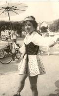 CPA PHOTO .CARNAVAL 1959 + VELO SOLEX - Sannois