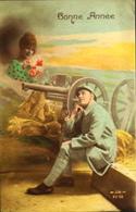 CPA - FRANCE - Militaria > Patriotiques - Fantaisie - Bonne Année D'un Soldat - Daté 1918 - TBE - Patriottisch