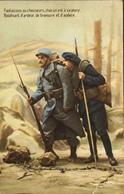 CPA - FRANCE - Militaria > Patriotiques - Fantaisie - Soldats Fantassin Et Chasseur Bravoure Et Audace - Daté 1916 - TBE - Patriottisch