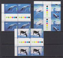 AAT 1995 Whales 4v In 2x3 Gutter  ** Mnh (41525) - Australisch Antarctisch Territorium (AAT)