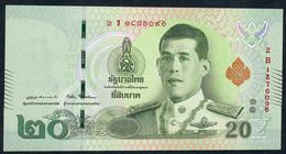 THAILAND NLP 20 BAHT (6.4.2018 /Thai Text First Issue !)signature 87  UNC. - Thaïlande