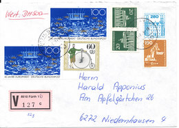 Germany Insured Letter Fürth 21-7-1994 With More Topic Stamps - [7] Federal Republic