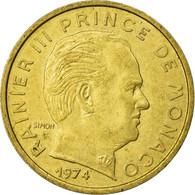 Monnaie, Monaco, Rainier III, 10 Centimes, 1974, TTB, Aluminum-Bronze - Monaco