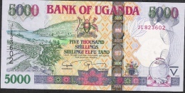 UGANDA  P44d  5000 SHILLIGS  2009 DATED 2009   UNC. - Ouganda