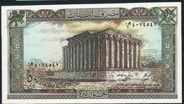 LEBANON  P65   50   LIVRES   1988    UNC. - Liban