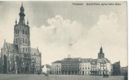 Tienen - Tirlemont - Grand Place, église Notre Dame - Edit. A. Tassier-Swillen - Tienen