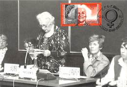 Carte Maximum Emilienne Brunfaut - 1981-1990