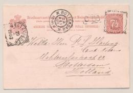 Nederlands Indië - 1902 - 7,5 + 7,5 Cent Cijfer, Briefkaart G13 Van Meester Cornelis Naar Rotterdam / Nederland - Niederländisch-Indien