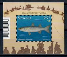 SLOVENIA 2013 - FAUNA ANIMALI - PESCI - FOGLIETTO - MNH ** - Slovenia