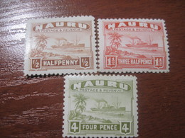 Nauru 1924 Ships Palm Trees Sea Glossy Paper MNH-MLH - Nauru