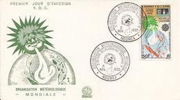 Nouvelle-Calédonie ,Organisation  Météorologique Mondiale N° 306 ,FDC De 1962 - Nouvelle-Calédonie
