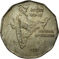 Monnaie, INDIA-REPUBLIC, 2 Rupees, 1992, TTB, Copper-nickel, KM:121.3 - Inde