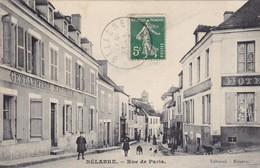 36. BELABRE. CPA. ANIMATION RUE DE PARIS.  ANNEE 1912 - France