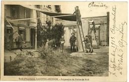 LAMOTTE-BEUVRON Ecole D'Aquitaine. Préparation De L'arbre De Noël (verso Décollé Avec Manques En épaisseur) 1913 - Lamotte Beuvron