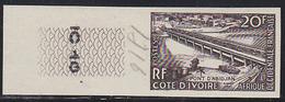 French West Africa (1958) Abidjan Bridge. Trial Color Proof.  Scott No 77, Yvert No 65. - A.O.F. (1934-1959)