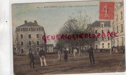 44- ANCENIS- VUE INTERIUER DES CASERNES  - BELLE CARTE COLORISEE - Ancenis