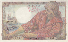 Billet 20 F Pêcheur Du 9-1-1947 FAY 13.11 Alph. E.154 Sans épinglage - 1871-1952 Anciens Francs Circulés Au XXème