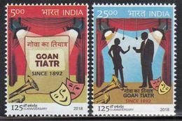 INDIA 2018 THE GOAN TIATR, (Theater) 25th Anniversary, Set 2v Complete, MNH(**) - India