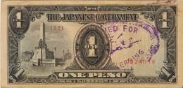 THE JAPANESE GOVERNMENT - ONE PESO (fiat Peso Philippin émis Par Le Gouvernement Japonais) - Philippines