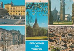 TORINO - VEDUTINE PALAZZO REALE + MOLE ANTONELLIANA + DUOMO + PALAZZO CARIGNANO + VEDUTA AEREA CENTRO STORICO - Palazzo Carignano