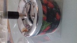 CENDRIER MECANIQUE FRUITS DES BOIS H 12 CM DIAM 9,5 CM - Metall
