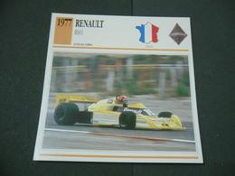 CARTOLINA CARD SCHEDA TECNICA  AUTO  RENAULT RS01 - Autres Collections