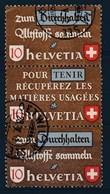 "HELVETIA - Mi Nr SZd 6 - Cachet ""OETWIL-AM-SEE"" - Cote 25,00 € - (ref. 492) - Se-Tenant"