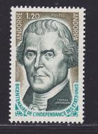 ANDORRE N°  255 ** MNH Neuf Sans Charnière, TB (D7916) Bicentenaire De L'indépendance Des Etats Unis - 1976 - Frans-Andorra