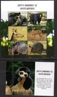 GUYANA, 2018, MNH, NATIVE MAMMALS OF SOUTH AMERICA, BEARS, DEER, ARMADILLOS,  SHEETLET+ S/SHEET , HIGH FV - Bears