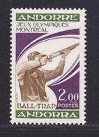 ANDORRE N°  256 ** MNH Neuf Sans Charnière, TB (D7917) Jeux Olympiques De Montréal - 1976 - Französisch Andorra